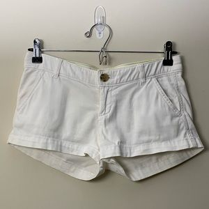 Hollister white shorts 00